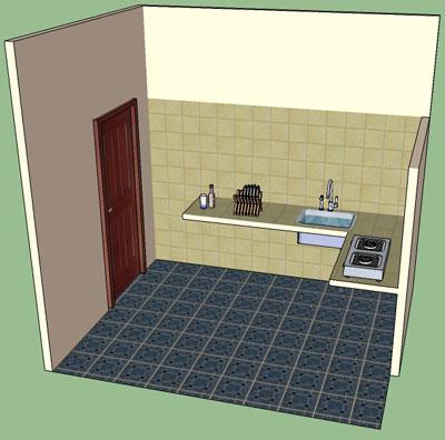 Model Rumah Sederhana on Membuat 3d Model Dengan Google Sketchup   Blog E Wisnoe
